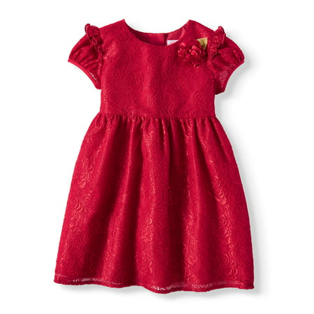Girls Special Occasion Dresses Cheap (Holiday Short Sleeve Lace Special Occasion Dress (Toddler)