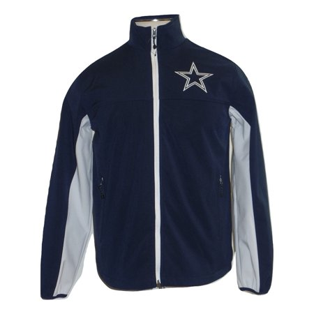 Dallas Cowboys Mens Jackets - Dallas Cowboys Mens Navy White 3 layer Softshell Jacket