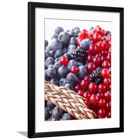 Mixed Berries and Ear of Spelt Wheat Framed Print Wall Art By Barbara Lutterbeck