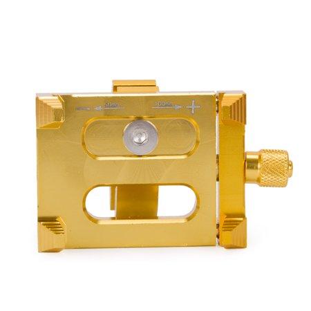 Motorcycle GPS Navigation Mobile Phone Handlebar CNC Metal Holders Strong Stands Adjustable Mount Bracket For Universal (Gold)
