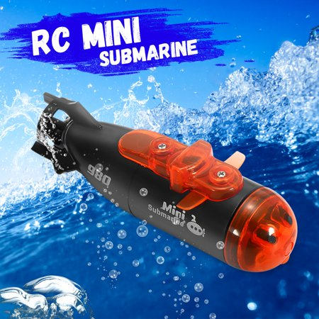 """Grtxinshu 3"""" Mini RC Submarine Boat Ship Micro Radio Remote Control Automatic With LED Light RC Toy For Kids Child Waterproof"""