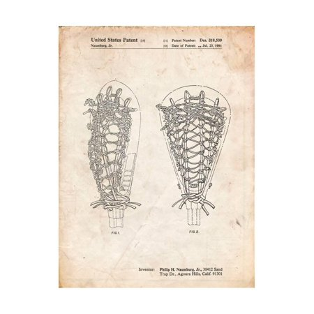 Lacrosse Stick Patent Print Wall Art By Cole Borders