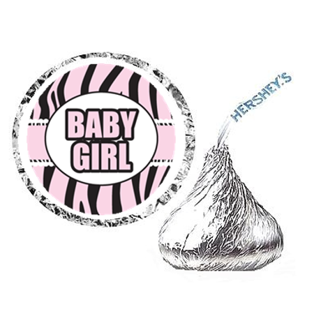 216ct Wild Baby Girl Baby Shower Hershey's Kisses Stickers / Labels Hershey Kiss Stickers