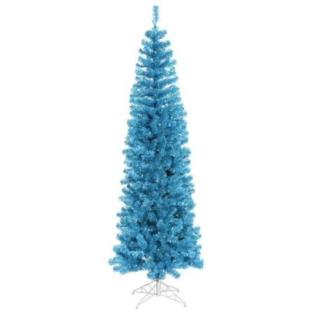 10' illuminée mousseux bleu ciel artificiel Crayon Arbre de Noël - Blue Lights - image 2 de 2