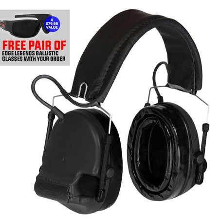 3M Peltor Comtac III Hearing Defender w/Gel Ear Cushions FG W/FREE Edge (Ear Cushions For Glasses)