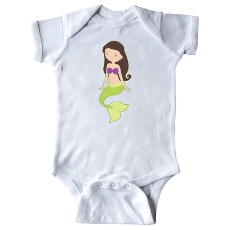 Mermaid brown hair Infant Creeper (Mermaid Infant)