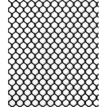 7mm Polyester Hex Mesh - Black Fabric - by the YardPerformance By ...