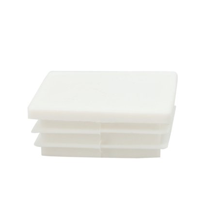 Rifled Tube - 50 x 50mm Plastic Square Tube Inserts Ribbed Pipe Tubing End Cover Caps, for 1.77