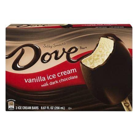 Dove Dark Chocolate with Vanilla Ice Cream Bar, 2.89-Ounce (12 Count) ()