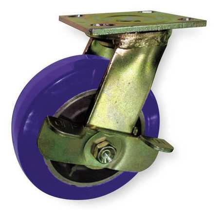 ZORO SELECT 1NUY2 Swivel Plate Caster,Poly,4 in.,750 lb. Poly Swivel Caster