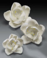 Cake Decoration Gum Paste Blossom Assortment- White