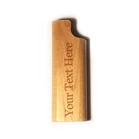 Customized 3D Laser Engraved Personalized - Custom Disposable Lighter Wooden Cover Case for $<!---->