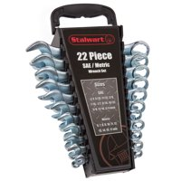22 PC Combo SAE & Metric Wrench Set with Carry Case by Stalwart