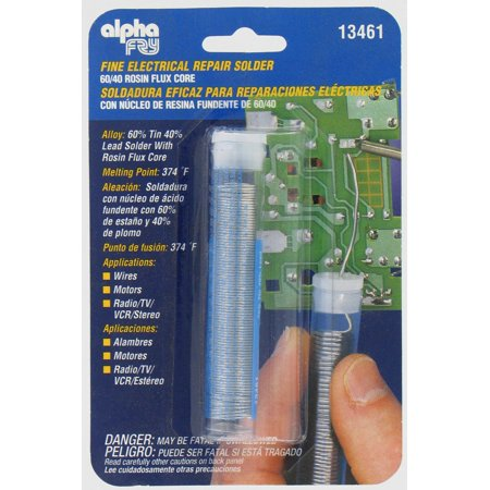 0.5 oz., .032-diameter Leaded Electrical Solder, Alpha Assembly, - 0.5 Solder
