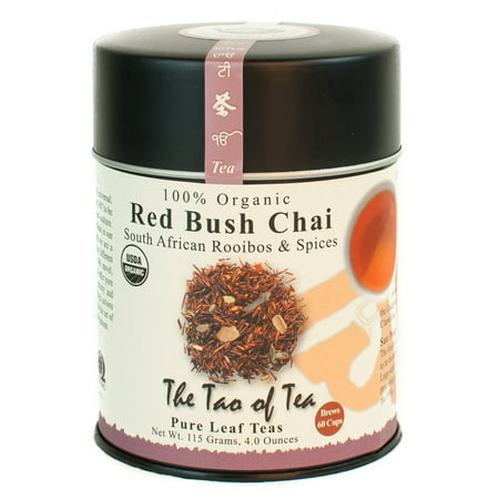 The Tao of Tea, Organic Red Bush Chai Herbal Tea, Loose Leaf Tea, 4 Oz Tin