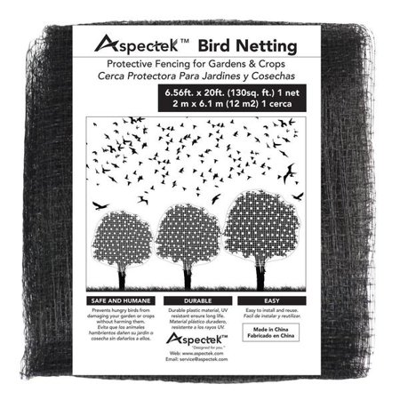 Aspectek Bird Netting and Fencing (Reusable Protection For Trees and Shrubs From Animals) 6 feet x 20 feet