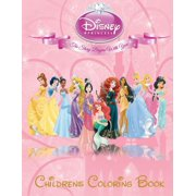 Disney Princess Children's Coloring Book : This A4 113 Page Children's Coloring Book Has Fantastic Images of All the Disney Princess's for You to Color, They Include Ariel, Aurora, Belle, Cinderella, Jasmine, Menda, Mulan, Pocahontas, Rapunzel and Snow White.