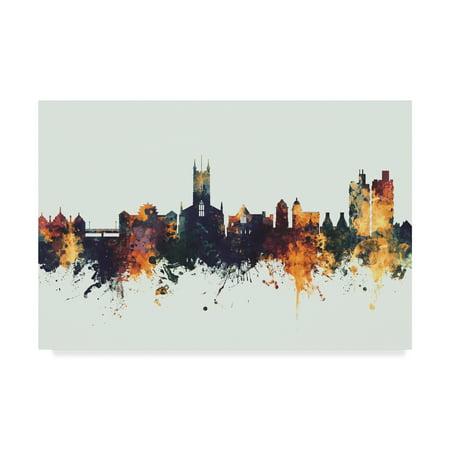 Trademark Fine Art 'Stoke-on-Trent England Skyline IV' Canvas Art by Michael (Johnson Brothers Stoke On Trent England Holland)