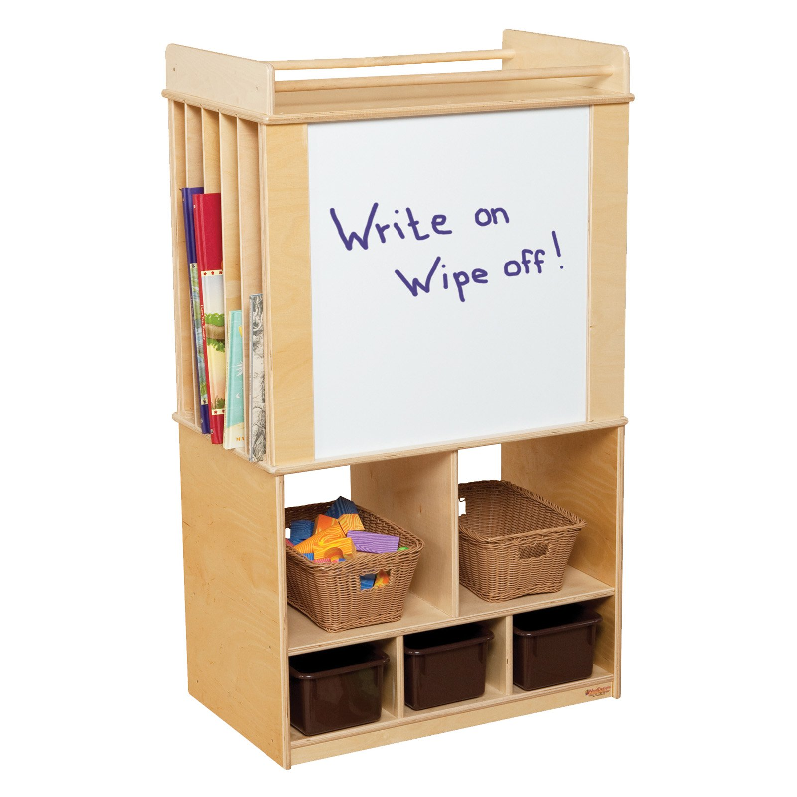Wood Designs Store It All Teaching Center with 3 Trays
