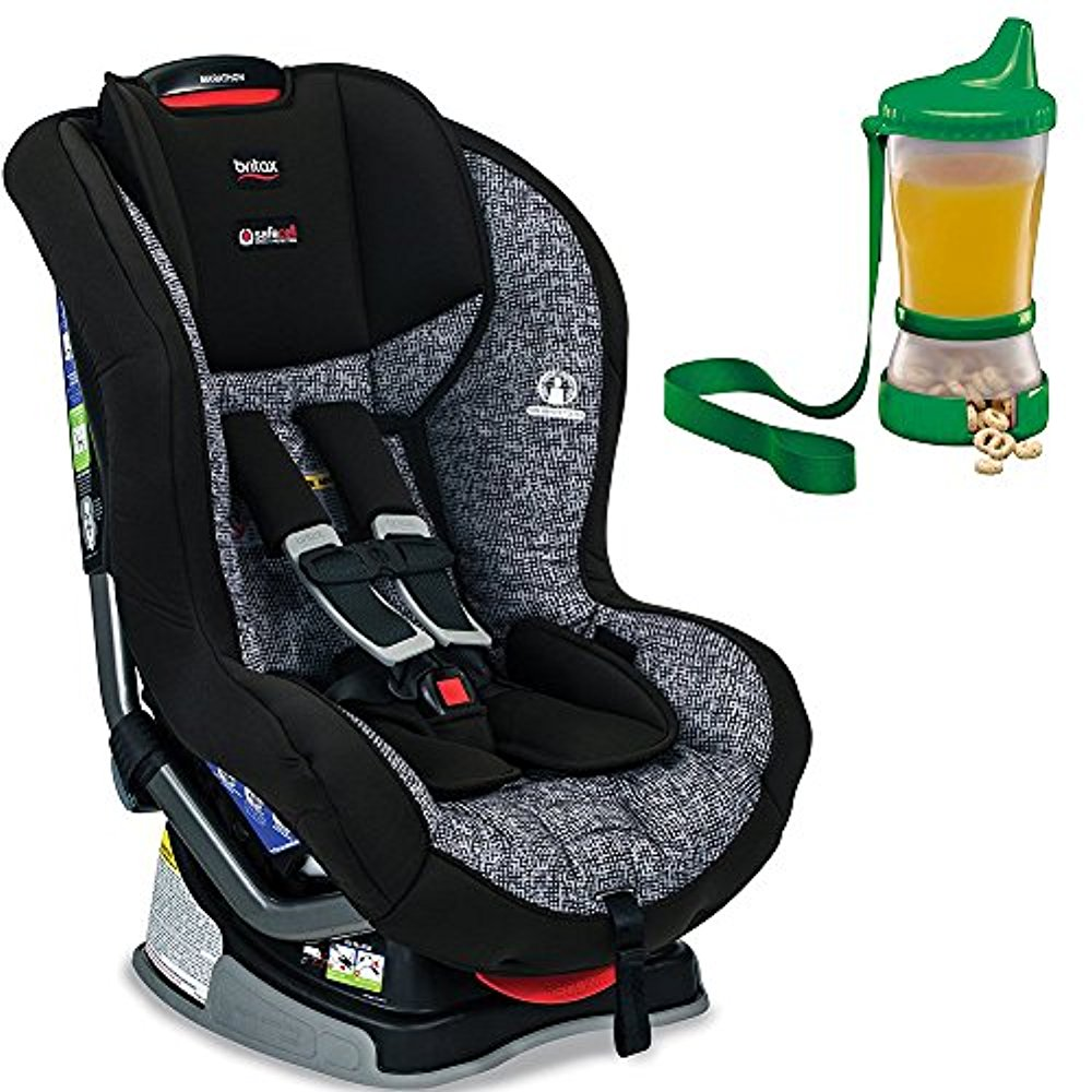 Britax Marathon G4.1 Convertible Car Seat, Static & Non-Spill Cup and Snack Container, Colors May Vary