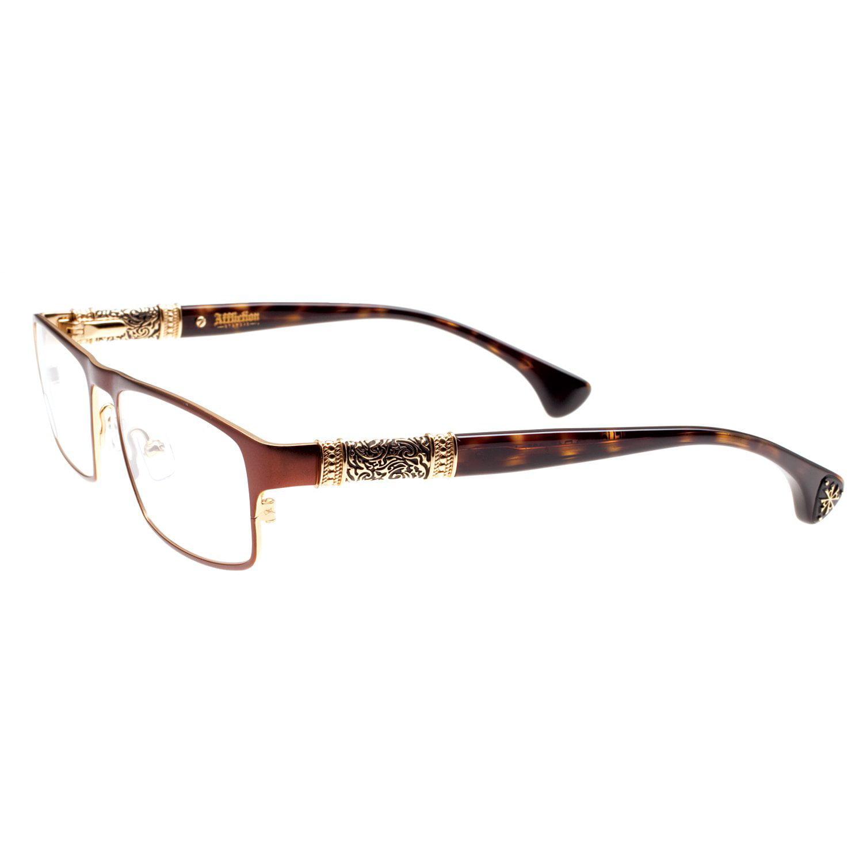 Image of Affliction HELIOS Designer Eyeglasses Olive/Shiny Gun