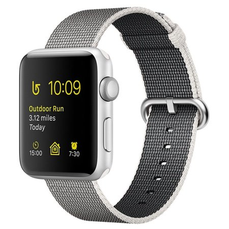 Apple Watch Series 2  38Mm Silver Aluminum Case  Pearl Woven Band