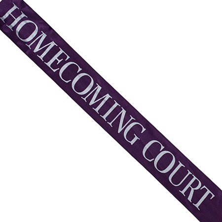 - Satin Homecoming Court Sash
