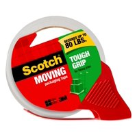 Scotch Moving Tough Grip Tape Dispenser, Clear, 6 Count, Value Pack