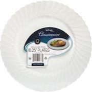 Classicware WNA Comet Heavyweight Plastic White Plates, White, 12 / Pack (Quantity)