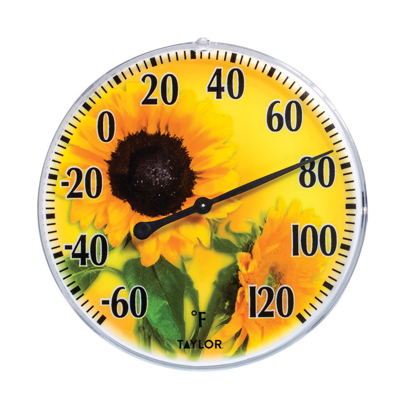 Taylor 5638 Sunflower Dial Thermometer, Yellow