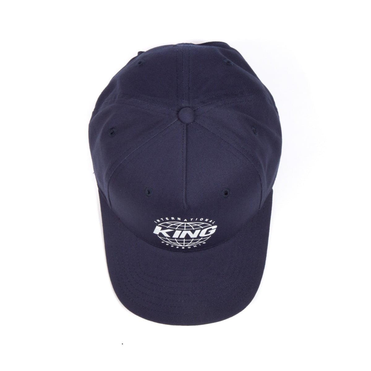 King Apparel Bethnal Curved Peak Blue Ink Snapback Hat - image 1 de 6