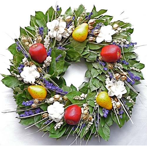 Dried Flowers and Wreaths LLC Jolly Orchard Wreath