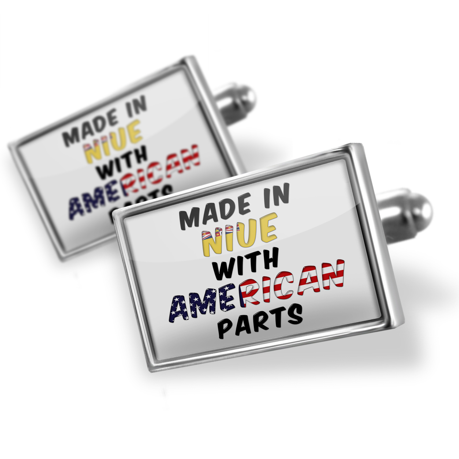 Cufflinks American Parts but Made in Niue - NEONBLOND