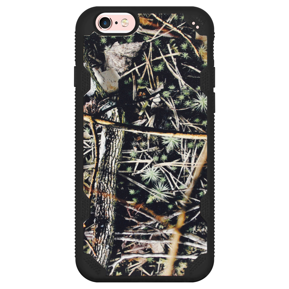 iPhone 6/6s Case, Hybrid Dual Layer Slim Protective Back Case Impact Resistant Gripped Designer Cover with Raised Bezel for iPhone 6/6s - Cedar Tree-Hunting Camouflage Collection/ Black Defyr