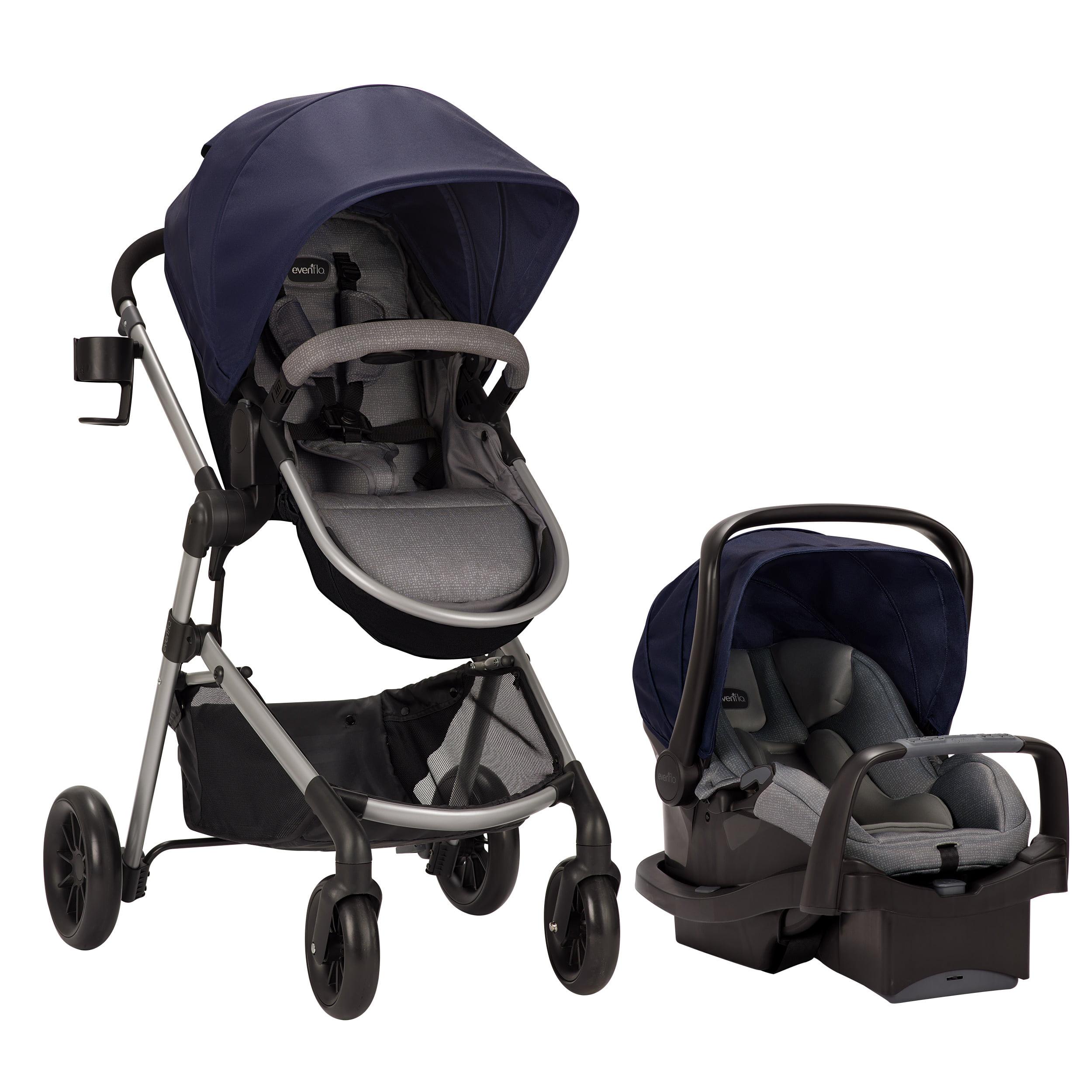 Evenflo Pivot Modular Travel System w/Safemax Infant Car Seat, Navy