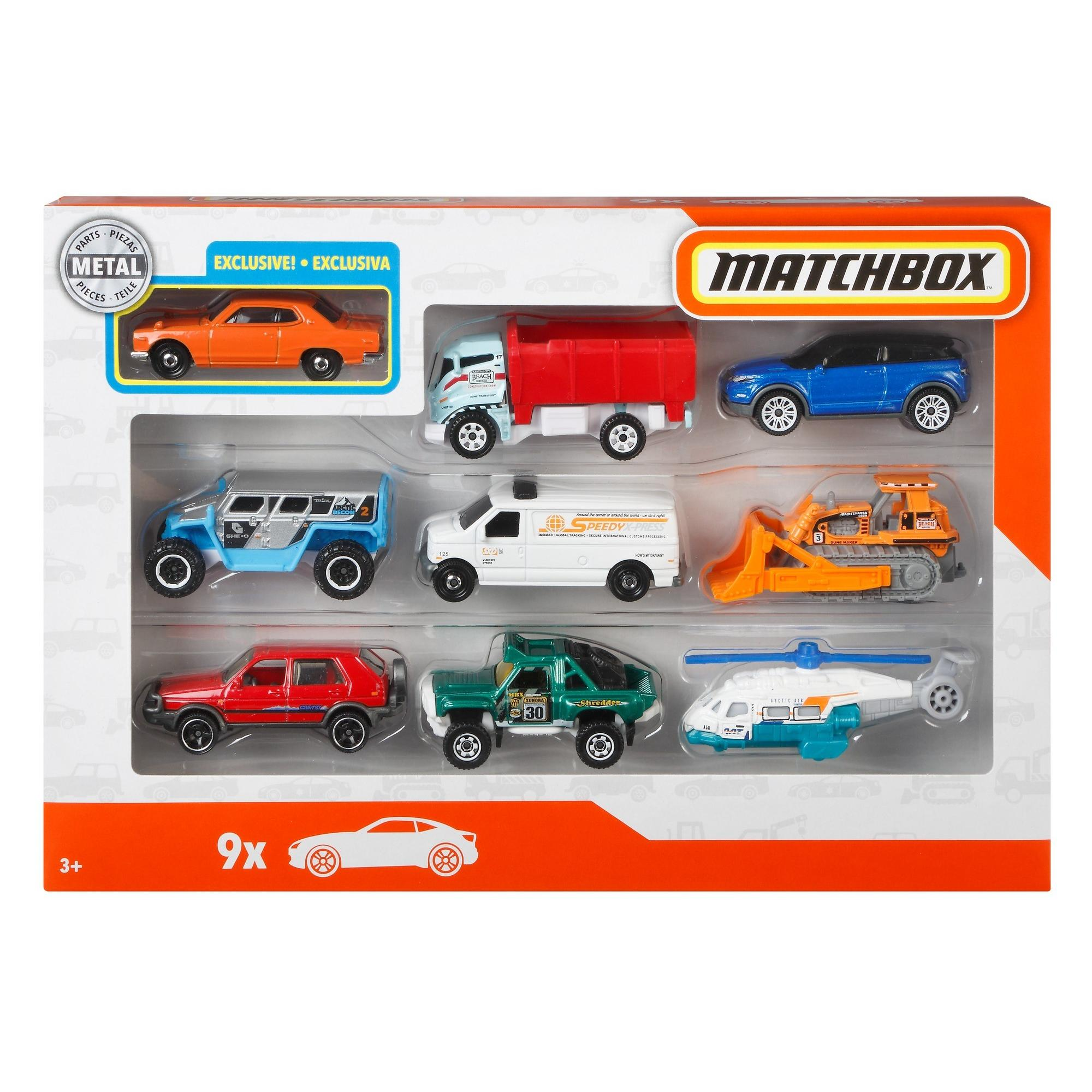 Matchbox 9 Car Gift Pack (Styles May Vary)