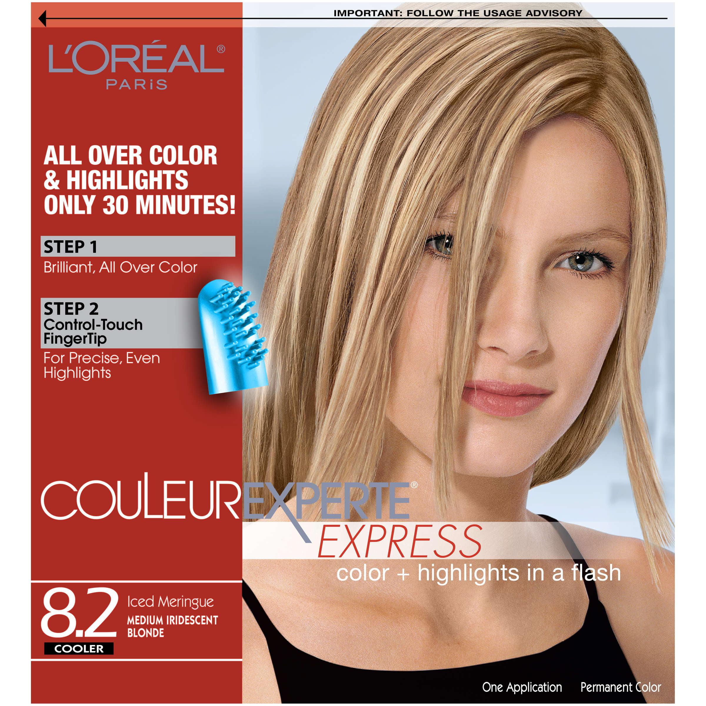 L Oreal Paris Couleur Experte Hair Color Hair Highlights Medium Blonde Toasted Coconut 1 Kit Walmart Com Walmart Com
