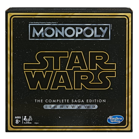 Monopoly: Star Wars Complete Saga Edition Board Game, for Kids Ages 8 and Up