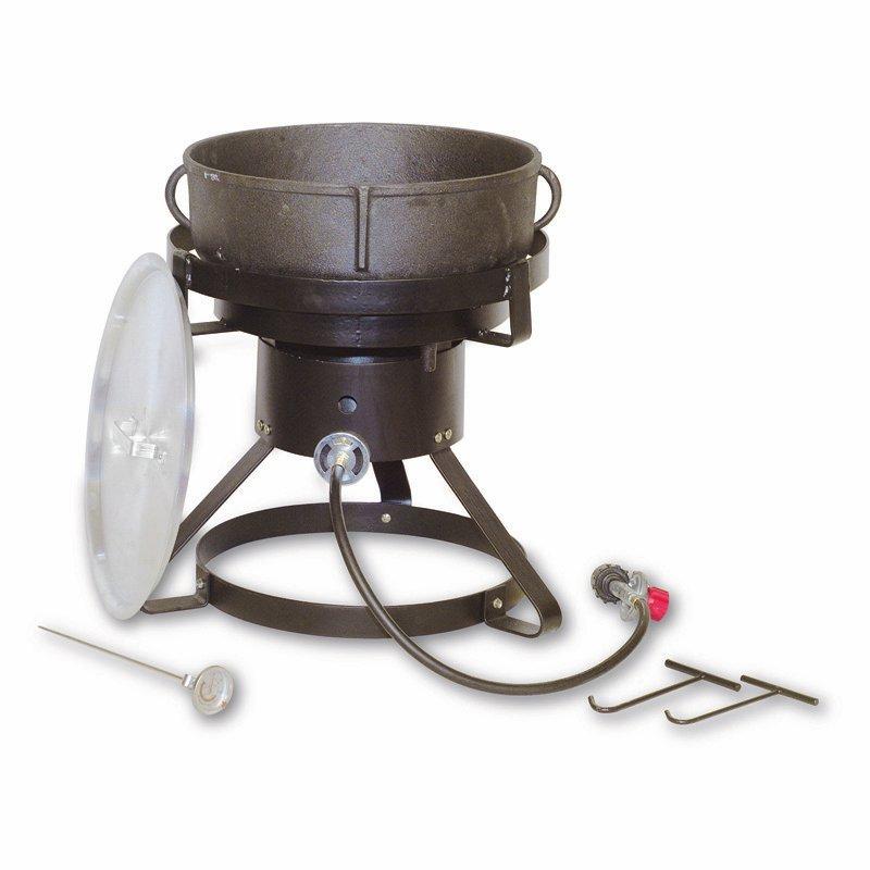 King Kooker 17.5 in. Cast Iron Jambalaya Outdoor Cooker - 5 gal.