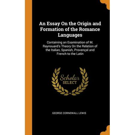 Essay on the origin of languages