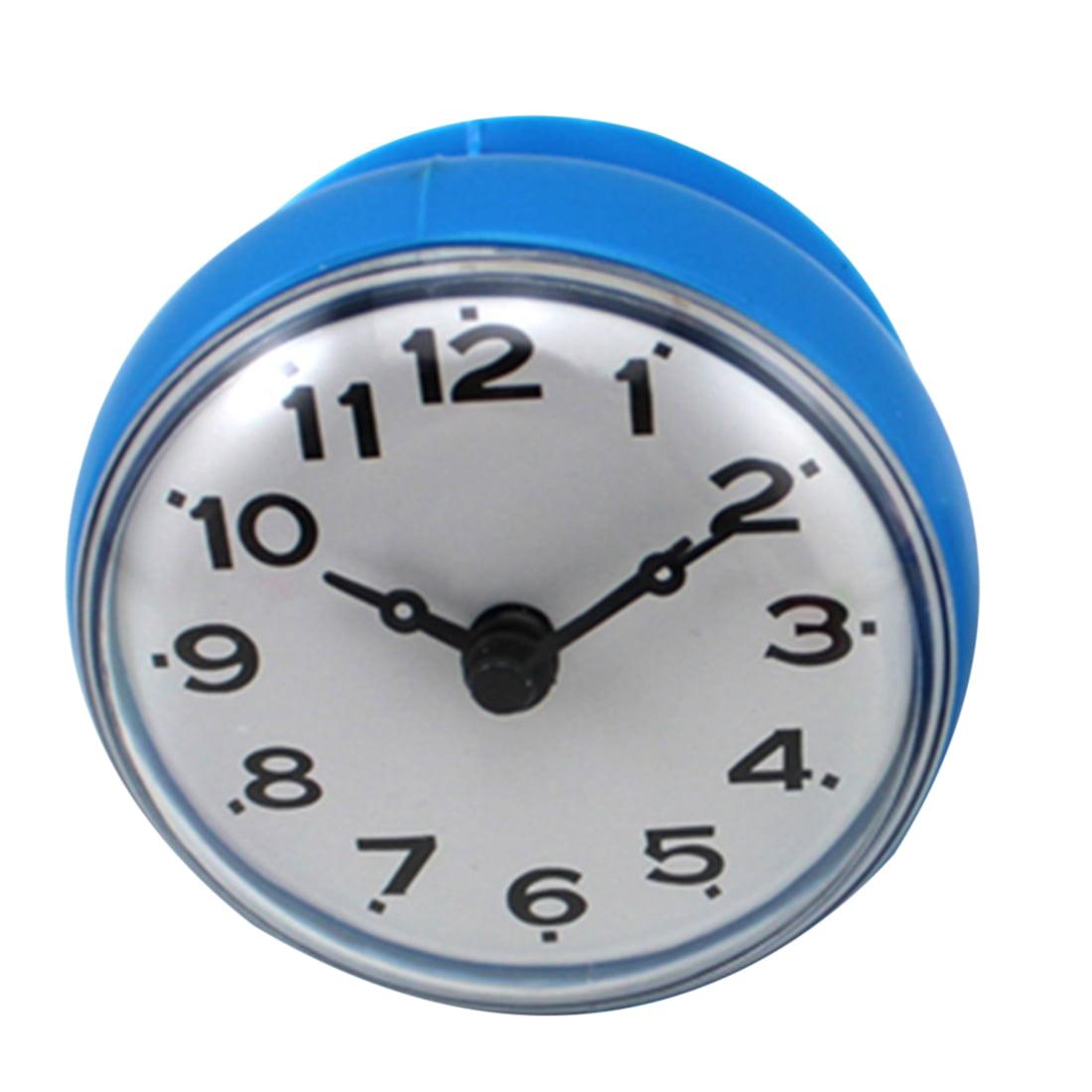 Adsorption wall clock Home Bathroom Kitchen Adsorption Type Waterproof Round Mini Clock... by