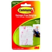 Command Damage-Free Picture Hanging Clip With 8 Adhesive Strip, Pack - 6