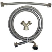 Certified Appliance Accessories STMKIT1 Braided Stainless Steel Steam Dryer Installation Kit with Elbow, 6ft