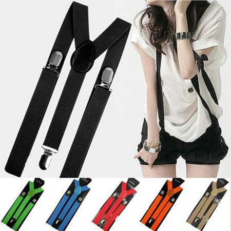 Aofa Unisex Elastic Y-Shape Braces Men\'s Women\'s Adjustable Clip-on Suspenders - image 1 de 7