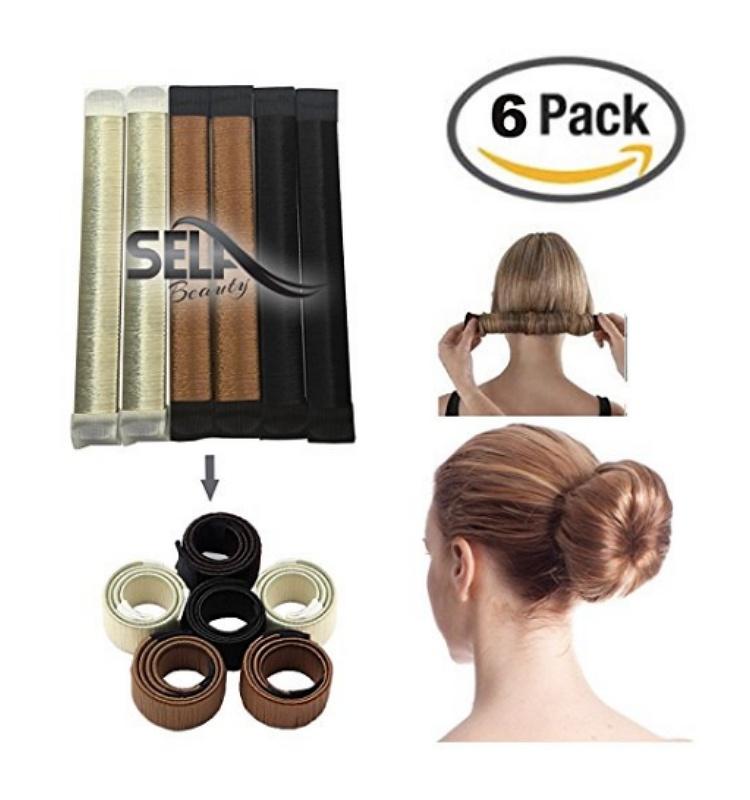 donut bun hairstyle black pazinger bun maker diy women girls perfect hair making styling french twist donut hairstyle