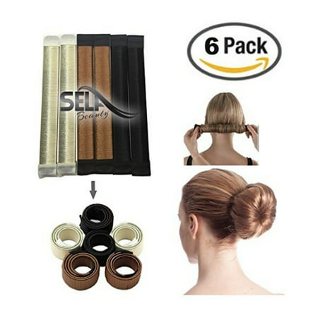 PaZinger Bun Maker DIY Women Girls Perfect Hair Bun Making Styling French Twist Donut Bun Hairstyle - 1970s Hairstyles For Women