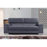 JandM Furniture 176551113-S-GR Soho Sofa - Grey Leather