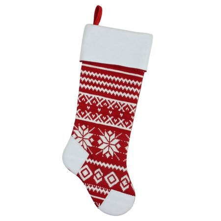 Red And White Christmas Stocking (21.5