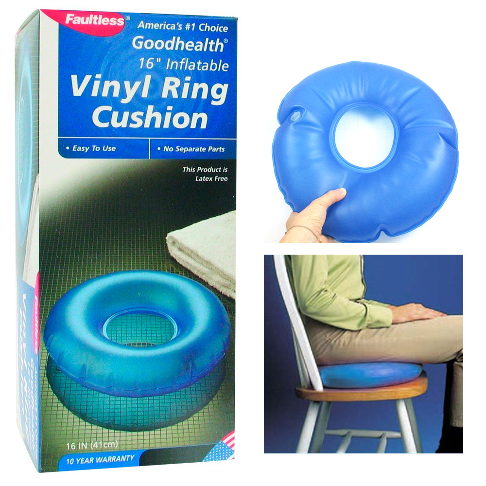inflatable vinyl ring round cushion hemorrhoid pillow