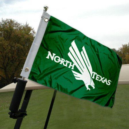 - North Texas Mean Green Golf Cart Flag